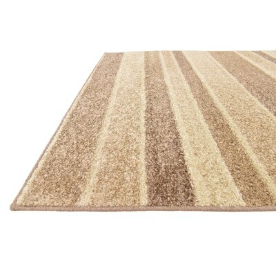 Bryan Beige Striped Area Rug Rug Size: 9 x 12