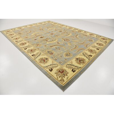 Fairmount Yellow/Blue Area Rug Rug Size: Rectangle 10 x 13