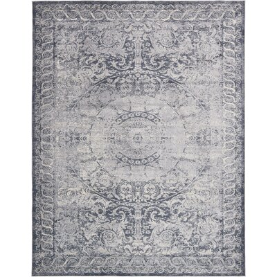 Abbeville Stone Blue Area Rug Rug Size: 8 x 10