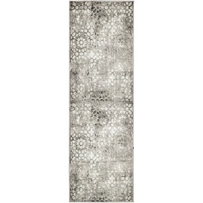 Brandt Dark Gray Area Rug Rug Size: Runner 2 x 67