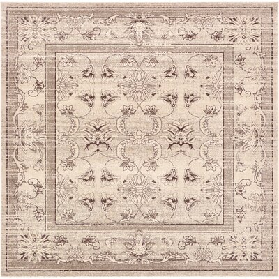 Albermarle Ivory Area Rug Rug Size: Square 10