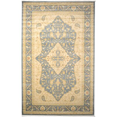 Jamar Blue/Cream Area Rug Rug Size: 106 x 165