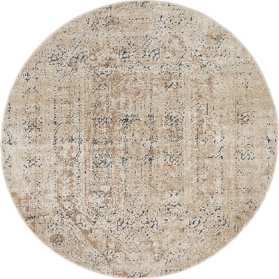 Abbeville Ivory Area Rug Rug Size: 4 x 4