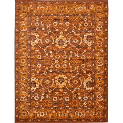 Bolton Orange/Brown Area Rug Rug Size: 10 x 13