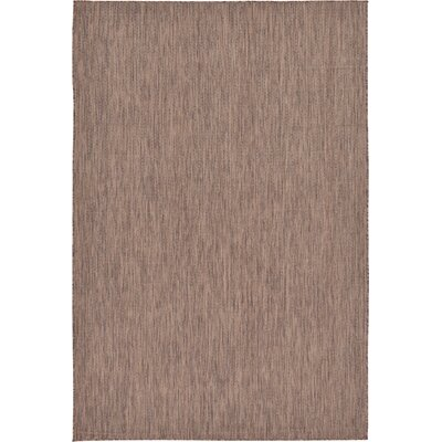 Cheriton Brown Indoor/Outdoor Area Rug Rug Size: 6 x 9