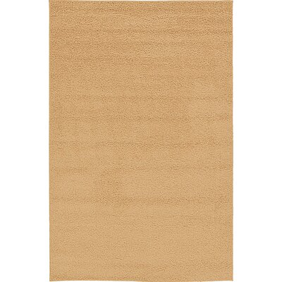 Aquino Rectangle Beige Area Rug Rug Size: 67 x 910