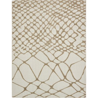 Jessie Cream Indoor/Outdoor Area Rug Rug Size: 9 x 12