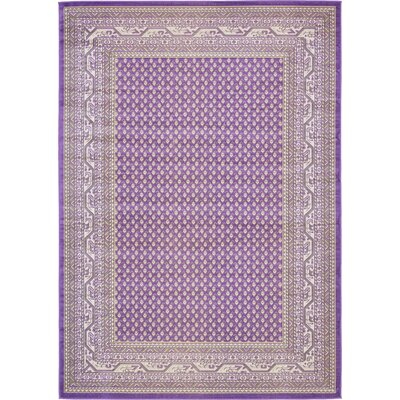 Gillam Violet Area Rug Rug Size: Rectangle 7 x 10