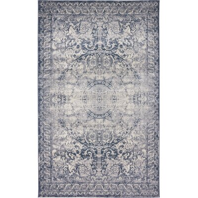 Abbeville Stone Blue Area Rug Rug Size: 5 x 8