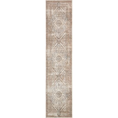 Abbeville Brown/Beige Area Rug Rug Size: Runner 3 x 13