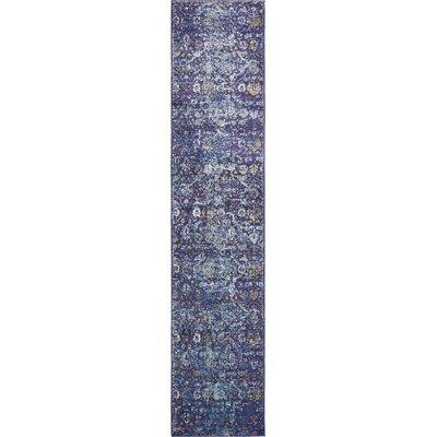 Koury Purple Area Rug Rug Size: Runner 27 x 122