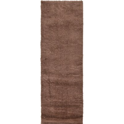 Aquino Bison Brown Area Rug Rug Size: Runner 27 x 985