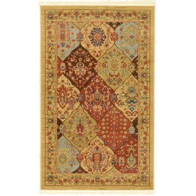Jeannie Tan Area Rug Rug Size: Rectangle 5 x 8