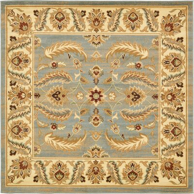 Fairmount Yellow/Blue Area Rug Rug Size: Square 6