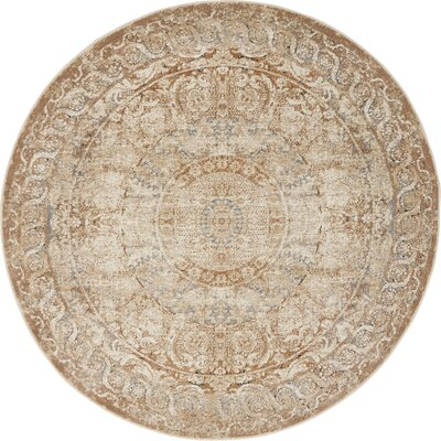 Abbeville Beige Area Rug Rug Size: 4 x 4