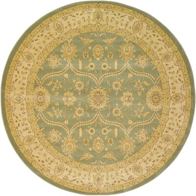 Fonciere Light Green Area Rug Rug Size: Round 8