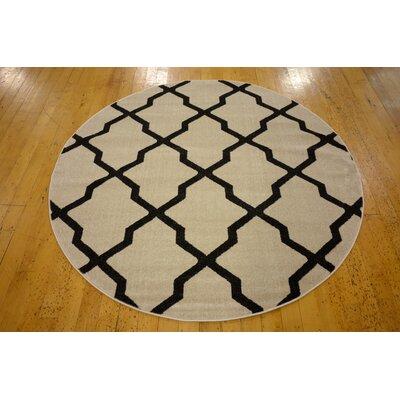 Cranston Beige Area Rug Rug Size: Round 6