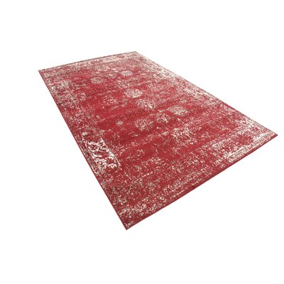 Brandt Burgundy Area Rug Rug Size: Rectangle 5 x 8
