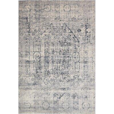 Abbeville Gray/Dark Blue Area Rug Rug Size: Rectangle 10 x 145