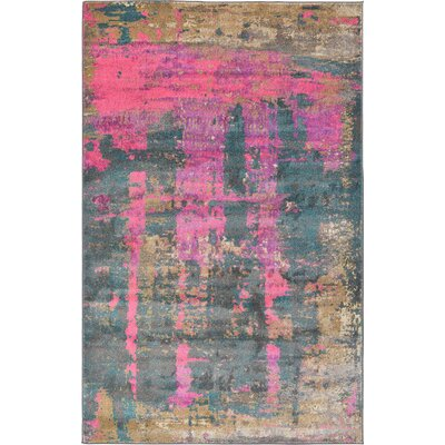 Coakley Pink Area Rug Rug Size: 5 x 8