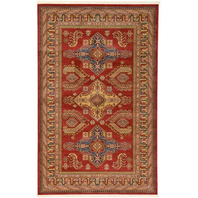 Valley Red Area Rug Rug Size: 5' x 8'