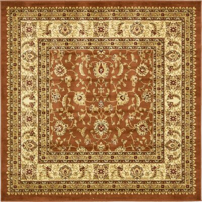 Fairmount Brick Red Area Rug Rug Size: Square 6
