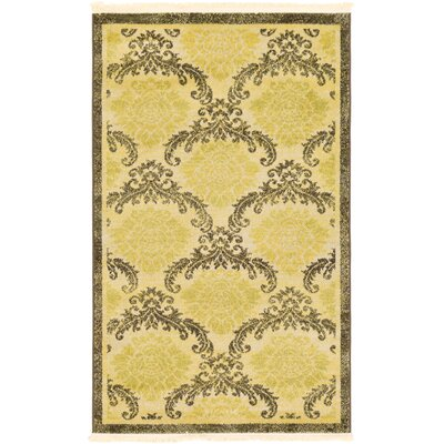 Ascencio Cream/Brown Area Rug Rug Size: Rectangle 33 x 53
