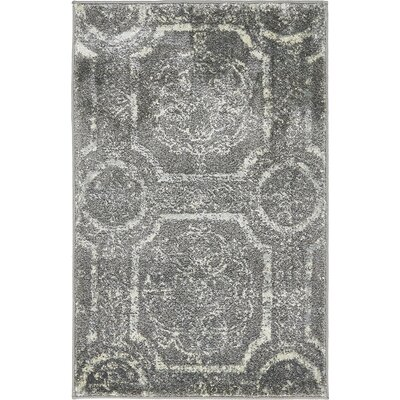 Essex Dark Gray Area Rug Rug Size: 2' x 3'