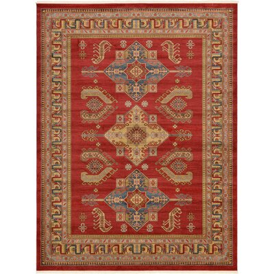 Valley Red Area Rug Rug Size: Rectangle 9 x 12