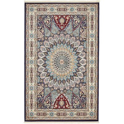 Jackson Navy Blue Area Rug Rug Size: Rectangle 13 x 198