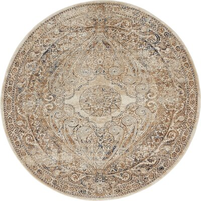 Abbeville Brown/Beige Area Rug Rug Size: 4 x 4