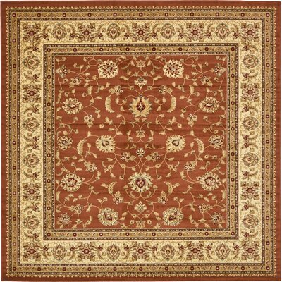 Fairmount Brick Red Oriental Area Rug Rug Size: Square 10