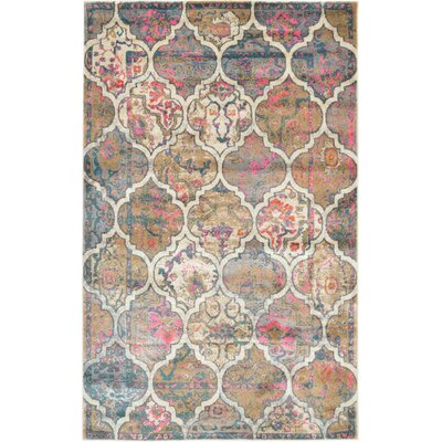 Jaiden Beige Area Rug Rug Size: Rectangle 5 x 8