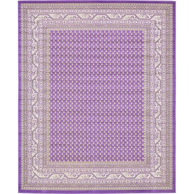 Toni Violet Area Rug Rug Size: Rectangle 8 x 10