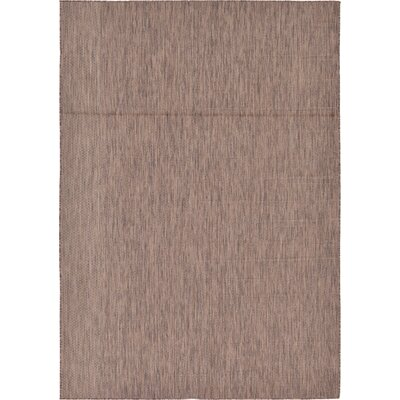 Cheriton Brown Indoor/Outdoor Area Rug Rug Size: 7 x 10