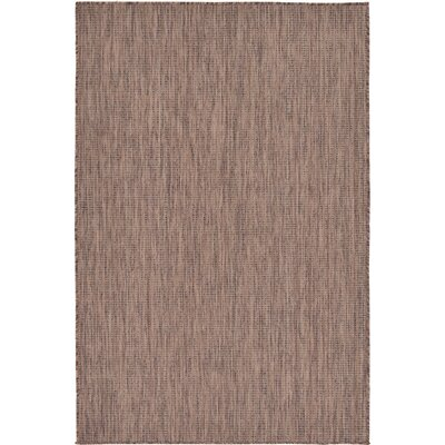 Cheriton Brown Indoor/Outdoor Area Rug Rug Size: 4 x 6