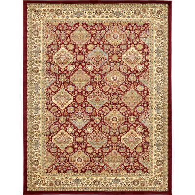 Fairmount Red Oriental Area Rug Rug Size: Rectangle 9 x 12