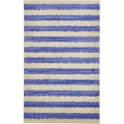 Travis Blue/Beige Area Rug Rug Size: 5 x 8