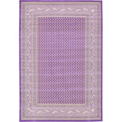 Gillam Violet Area Rug Rug Size: Rectangle 6 x 9