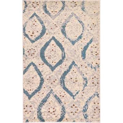 Charleena Cream Area Rug Rug Size: Rectangle 33 x 53