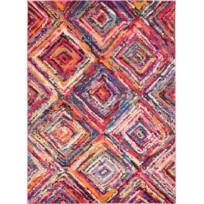 Killington Pink Area Rug Rug Size: 8 x 11
