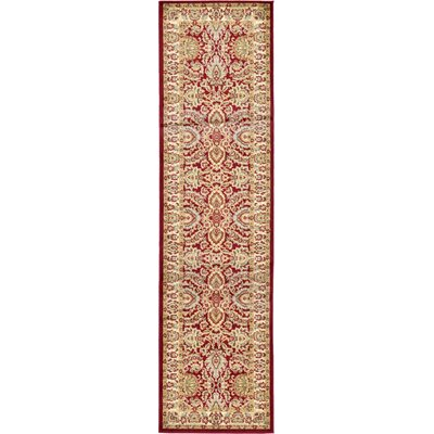 Fairmount Traditional Red Oriental Area Rug Rug Size: Runner 27 x 10