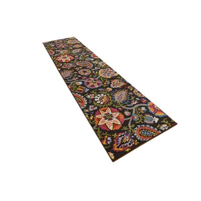 Hayes Brown Area Rug Rug Size: Runner 27 x 10