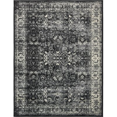 Neuilly Black Area Rug Rug Size: 10 x 13