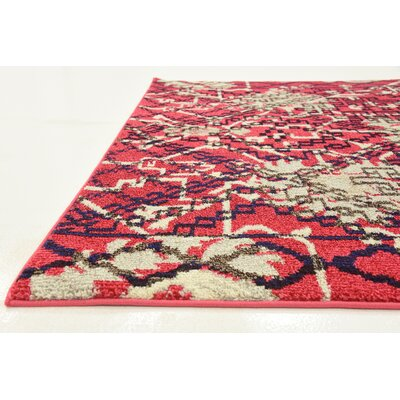 Shemar Red Area Rug Rug Size: Rectangle 8 x 10