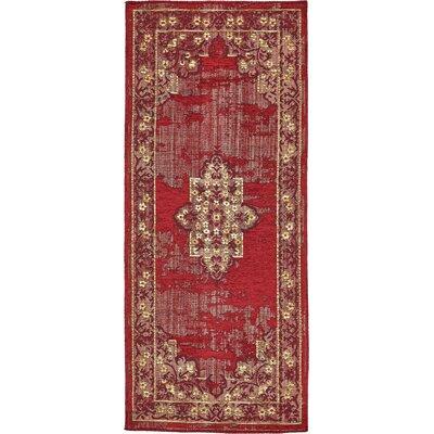 Jakeman Red Area Rug Rug Size: 3 x 6