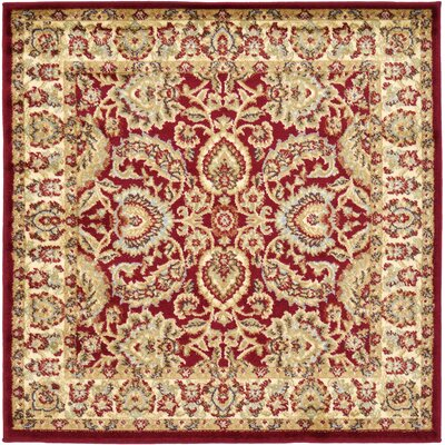 Fairmount Traditional Red Oriental Area Rug Rug Size: Square 4