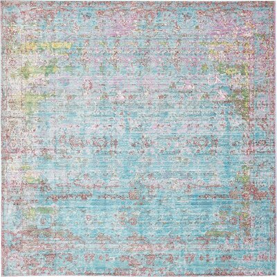 Hajeb Blue Area Rug Rug Size: Square 8