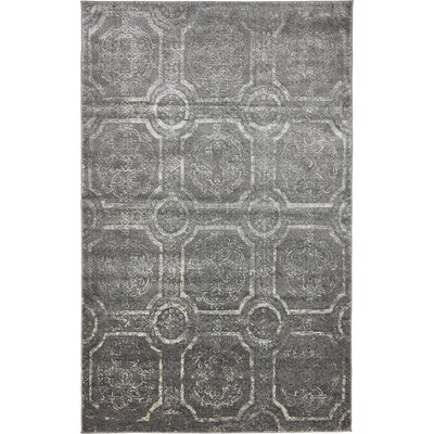Essex Dark Gray Area Rug Rug Size: 5 x 8