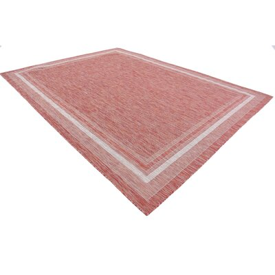 Erma Rust Red Outdoor Area Rug Rug Size: Rectangle 7 x 10